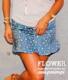 インナー付小花柄フレアミニスカート