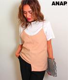 Tシャツ+ジョーゼットキャミ2点セット