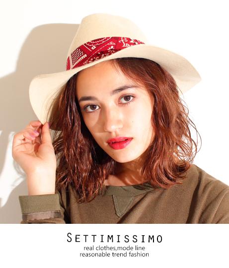 ペイズリー柄リボンウールフェルトハット(ファッション雑貨/ハット・キャップ・ニット帽 ・キャスケット・ベレー帽) | Settimissimo