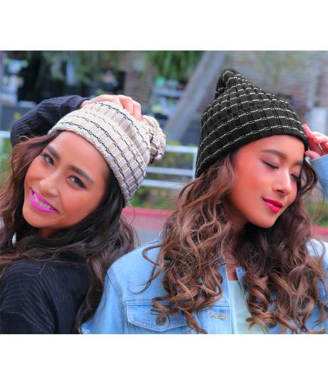 ボーダーニット帽(ファッション雑貨/ハット・キャップ・ニット帽 ・キャスケット・ベレー帽)   anap mimpi