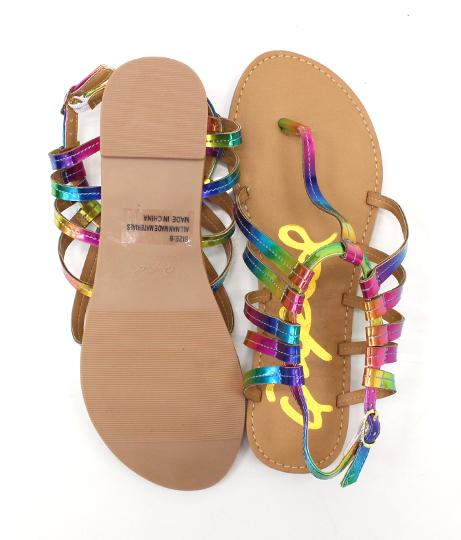 3パターンオーロラーカラーデザインサンダル(シューズ・靴/サンダル)   Anap USA