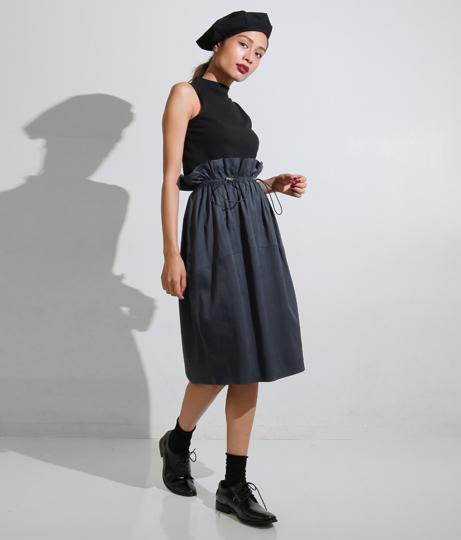ドローストリングコクーンスカート(ボトムス・パンツ /ミモレ丈スカート・スカート)   Settimissimo