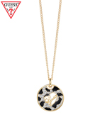 GUESS ANIMAL LOGO DISC NECKLACE