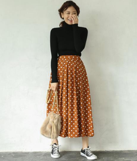 ドットマキシスカート(ボトムス・パンツ /スカート)   AULI