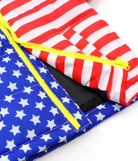 アメリカンフラッグ柄中綿ジャケット(アウター(コート・ジャケット) /ジャケット・ブルゾン) | ANAP KIDS