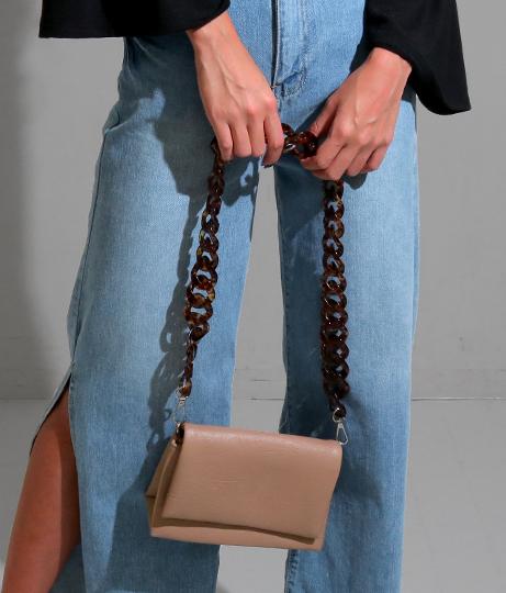 ●ベッコウストラップショルダーバッグ
