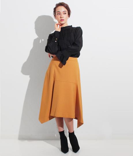 ウールタッチフロント切替スカート(ボトムス・パンツ /ミモレ丈スカート・スカート) | Settimissimo