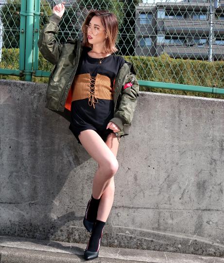 レースアップリブニットコルセット(ファッション雑貨/ベルト) | Anap USA