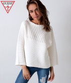 GUESS 3QUARTER SLEEVE ORIEL PULLOVER SWEATER