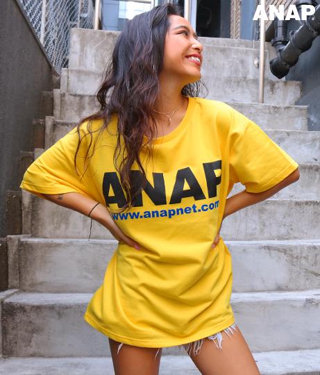 『ANAP』ロゴミニ裏毛Tシャツ
