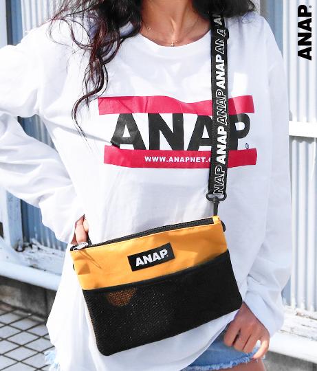 ANAPロゴサコッシュバッグ