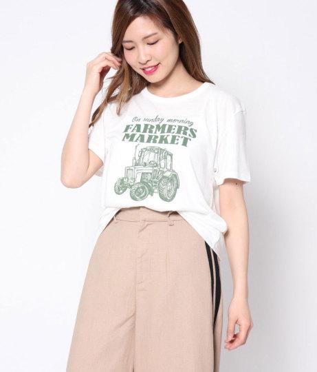 CARプリントTシャツ