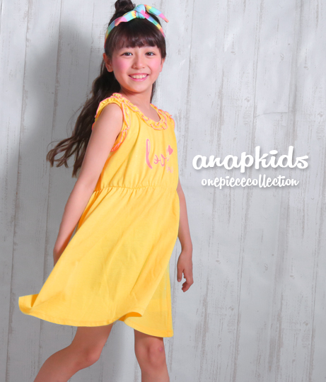 フリルトリムワンピース(ワンピース・ドレス/チュニック・ミニワンピ) | ANAP KIDS