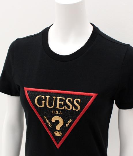 GUESS GLITTER LOGO TEE | GUESS