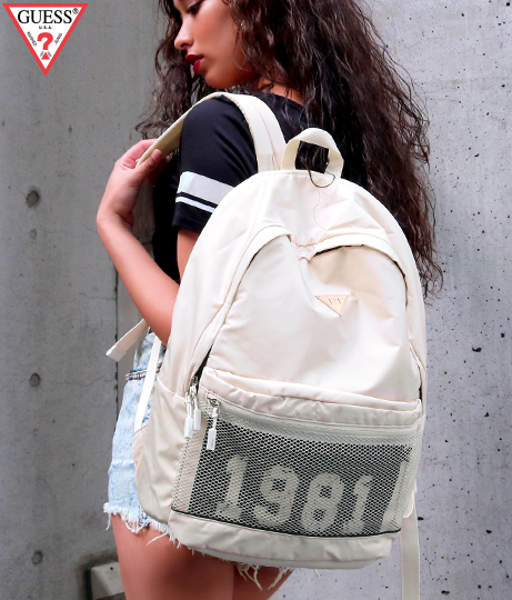GUESS 1981 MESH LETTERING BACKPACK