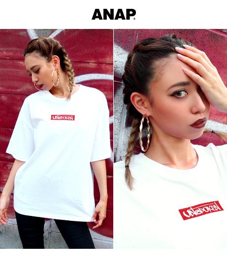 2パターンBOXロゴ刺繍Tシャツ