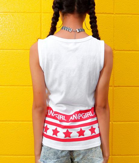 裾ロゴ星ラインタンクトップ(トップス/カットソー ・タンクトップ) | ANAP GiRL