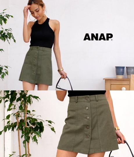 センターボタンチノミニスカート(ボトムス・パンツ /スカート) | ANAP