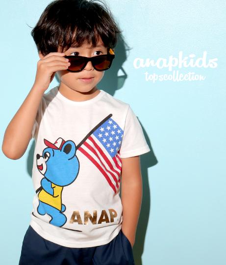 アメリカンフラッグキャラTシャツ