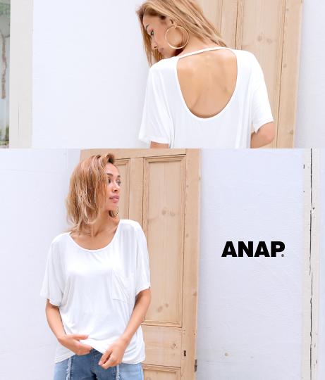 BACKオープンポケットTシャツ