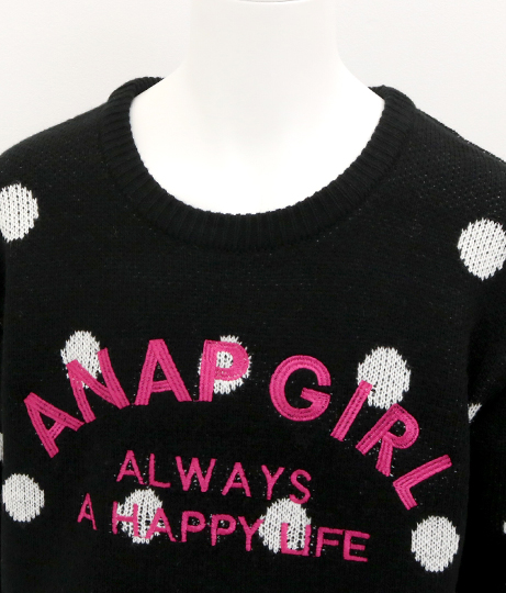 ドットジャガードセーター(トップス/ニット/セーター) | ANAP GiRL