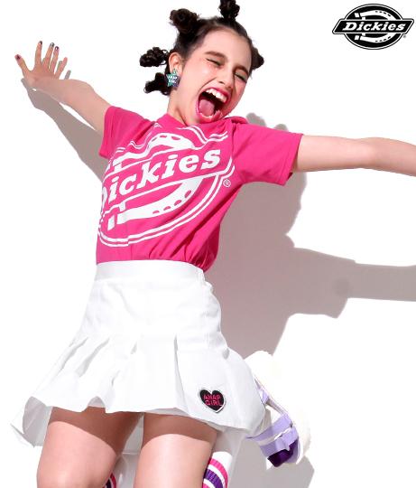 【ジュニア】COOLMAX(R)蛍光ビッグロゴプリント入りTシャツ