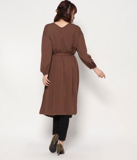 2wayレーヨンカシュクールワンピース(ワンピース・ドレス/ミディアムワンピ) | AULI