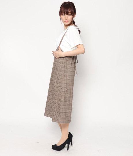 サスペンダー付スカート(ボトムス・パンツ /ミモレ丈スカート・スカート) | AULI