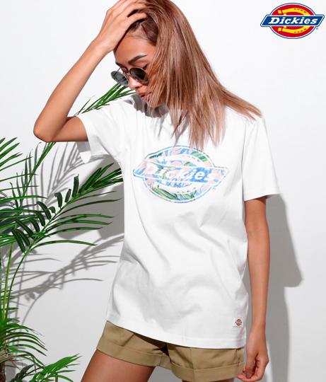 DIAGUARD(R) サボテン柄ロゴ抜きプリントTシャツ