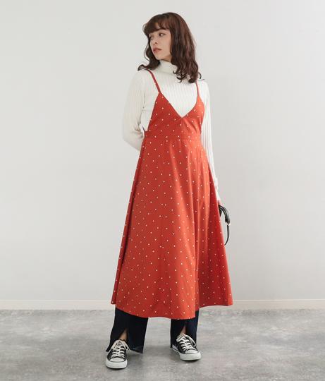 ドットキャミワンピース(ワンピース・ドレス/マキシ丈ワンピース・ミディアムワンピ) | Factor=