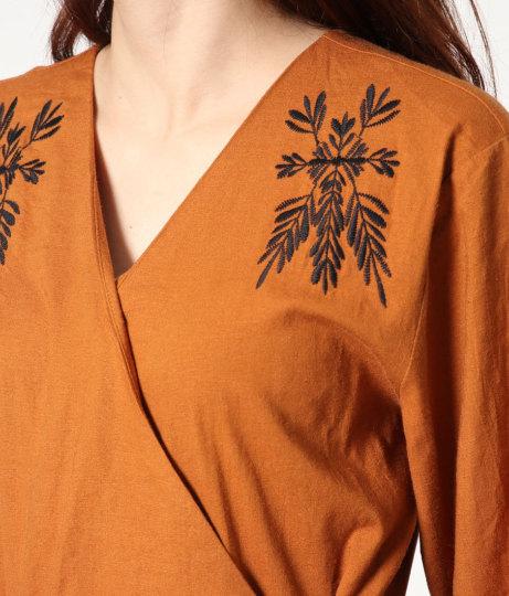 刺繍カシュクールワンピース(ワンピース・ドレス/ロングワンピ)   Factor=