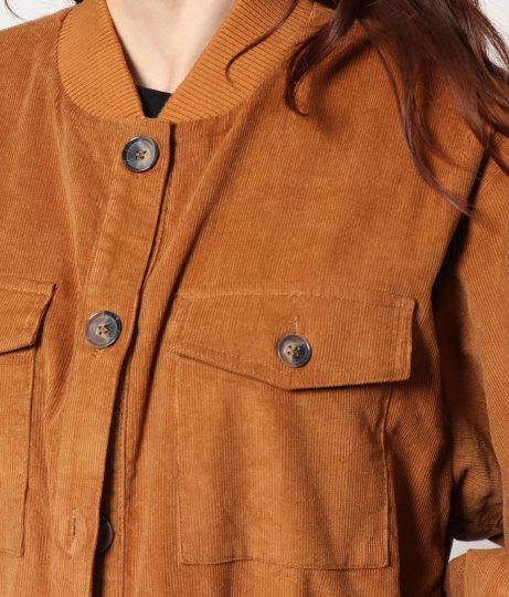 コーデュロイロングジャケットコート(アウター(コート・ジャケット) /コート (トレンチコート・ロングコート) ) | Factor=