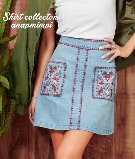 ●刺繍スカート