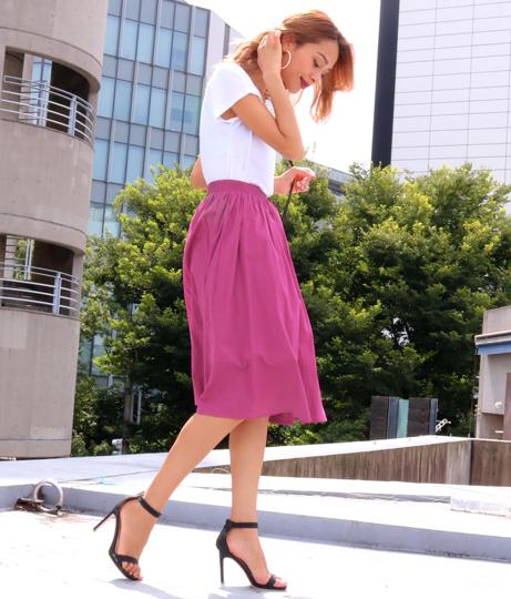 コットンギャザーミモレスカート(ボトムス・パンツ /ミモレ丈スカート・スカート) | anap Latina