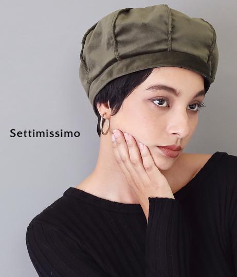 ベロアカットオフデザインベレー帽