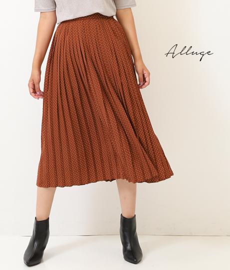 ●ドットプリントプリーツスカート