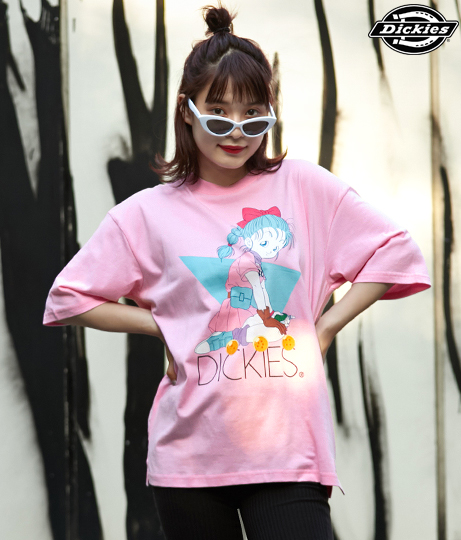 【DRAGON BALL】ブルマプリントオーバーサイズTシャツ