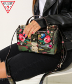 GUESS BADLANDS CAMOUFLAGE TRUNK CROSSBODY