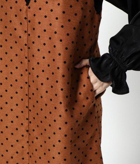 ドットフロッキージャンパースカート(ボトムス・パンツ /スカート)   AULI