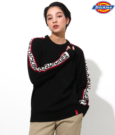 ロゴラインジャカードセーター