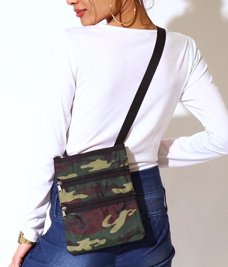 カモフラ3ジップサコッシュバッグ(バッグ・鞄・小物/ショルダーポシェット) | Anap USA