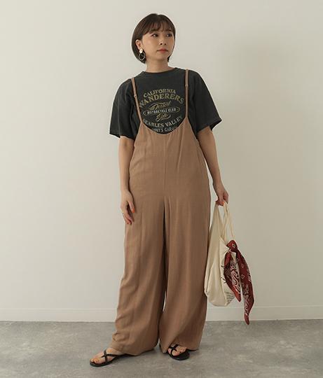 細紐ストラップサロペット(ワンピース・ドレス/サロペット/オールインワン)   Factor=