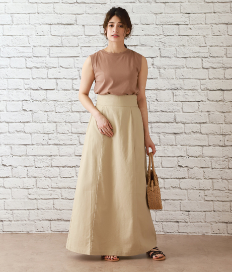 コットンリネンマキシスカート(ボトムス・パンツ /スカート) | AULI
