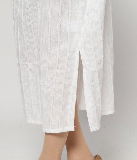 ストライプ織リスキッパーワンピ(ワンピース・ドレス/ロングワンピ) | AULI