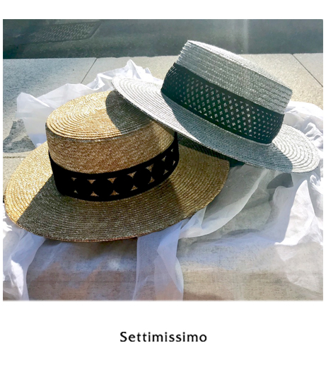 レース帯ストローカンカン帽