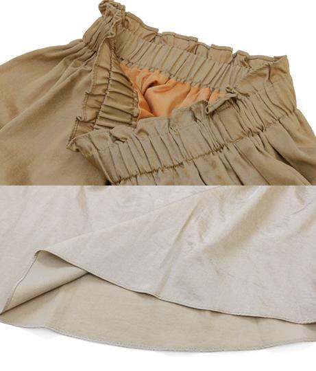 ブライトツイルフレアスカート(ボトムス・パンツ /ミモレ丈スカート・スカート) | Alluge
