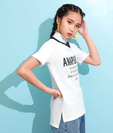 メッシュ切替肩開きチュニック(トップス/チュニック) | ANAP GiRL