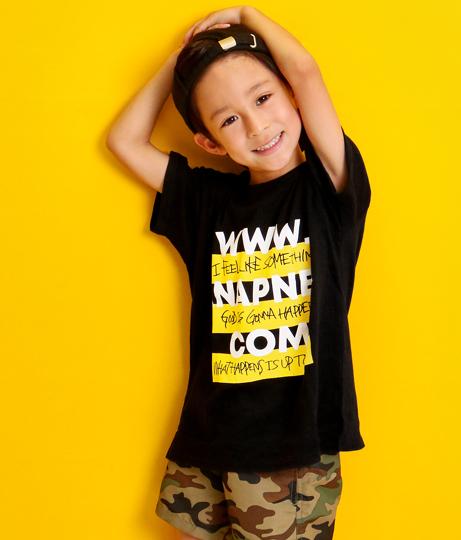 ボーダーボックスロゴビッグTシャツ(トップス/Tシャツ) | ANAP KIDS