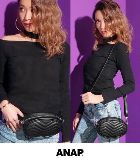2WAYキルティングウエストポーチ(ファッション雑貨/ポーチ・ショルダーポシェット) | ANAP