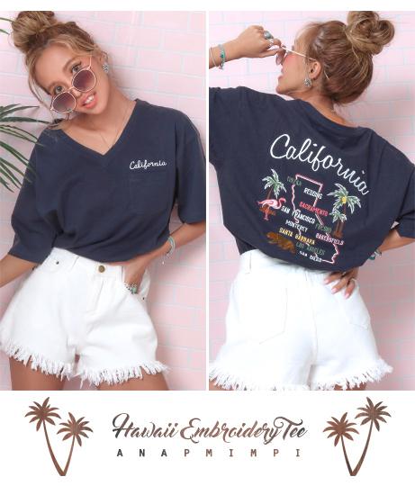 USAコットン刺繍Tシャツ